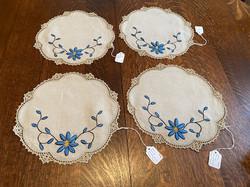Small Blue Round Textile