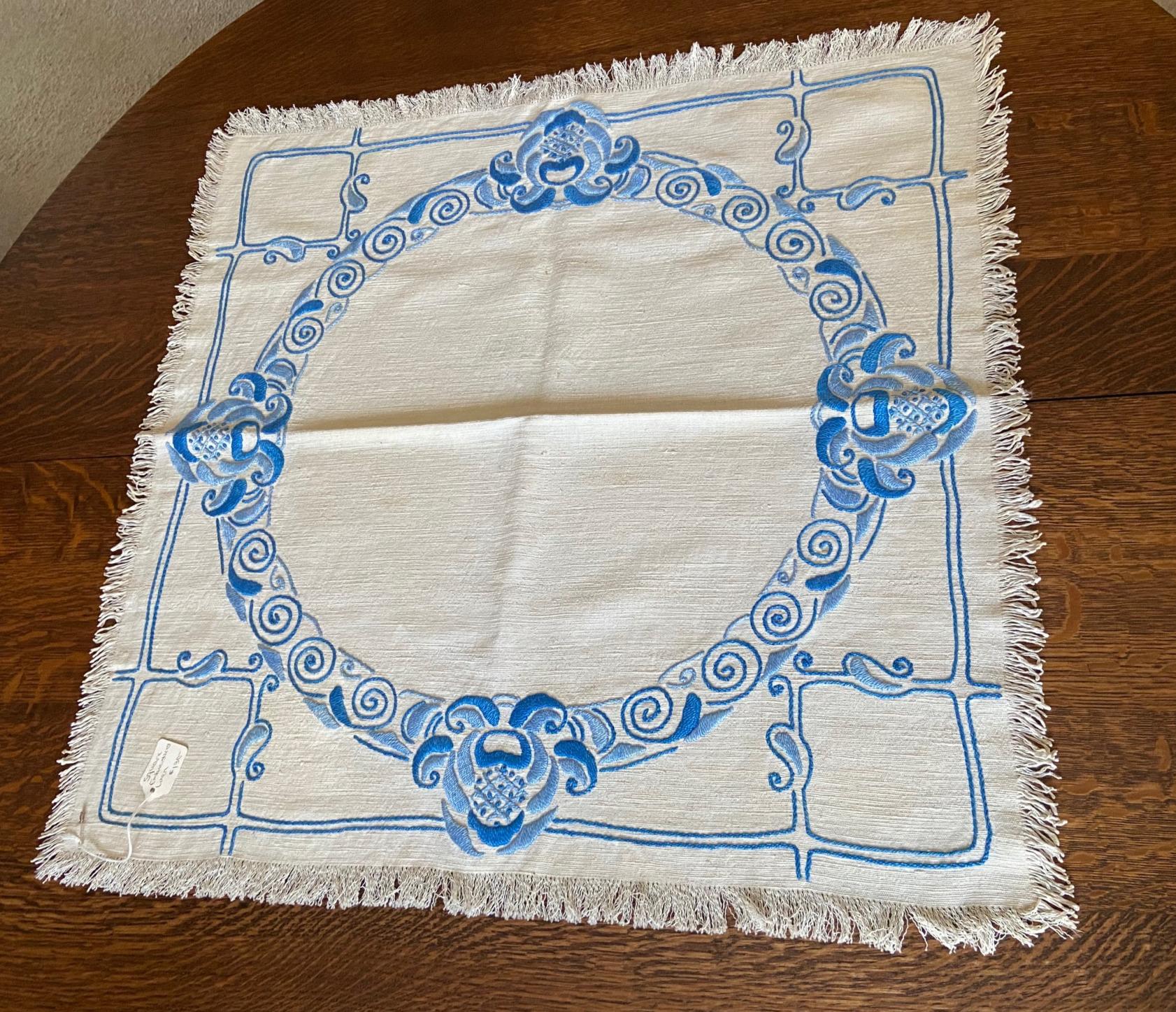 Blue Square Textile