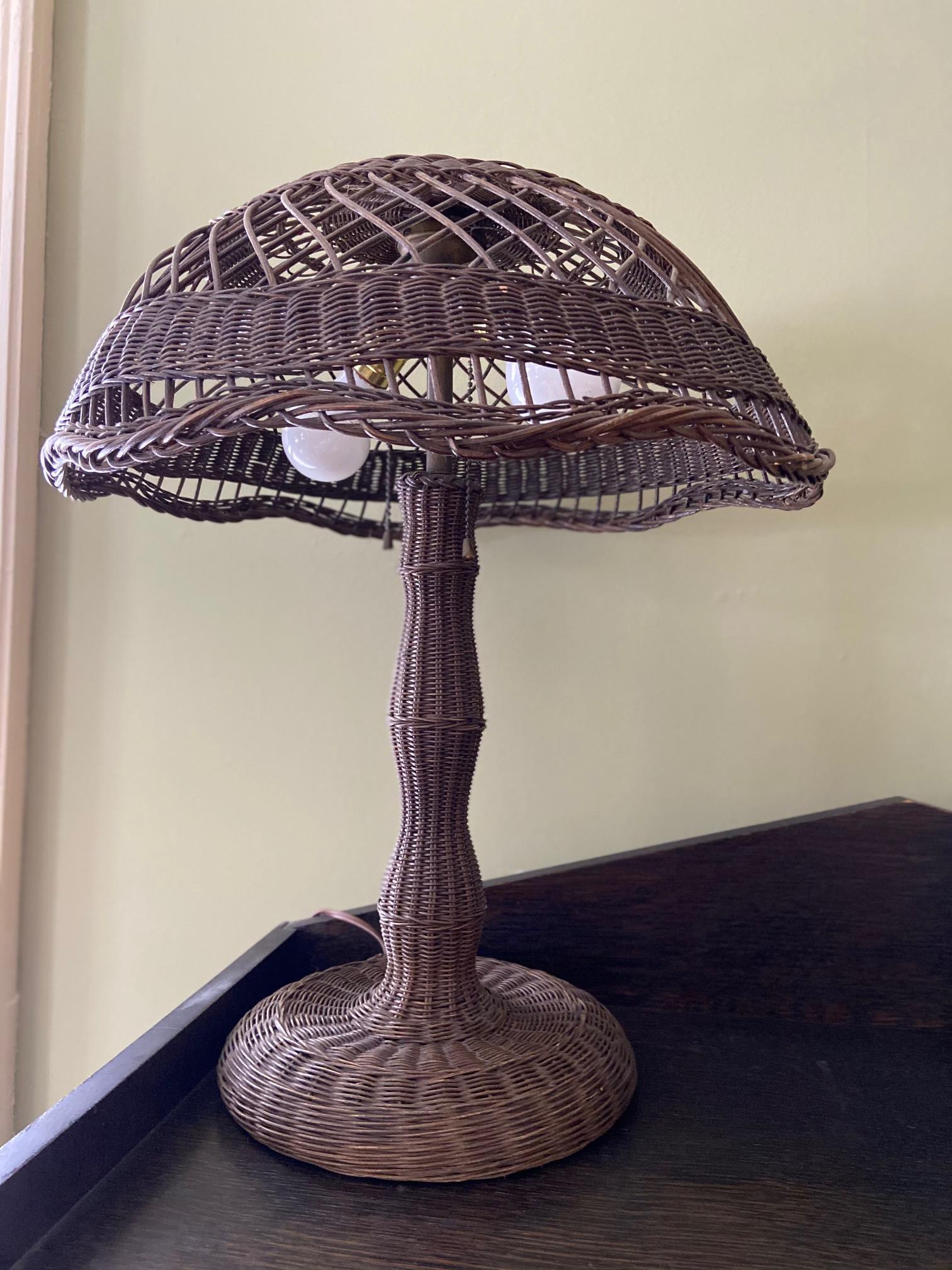 Wicker Lamp