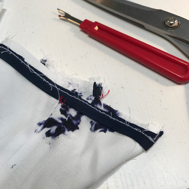 Shortening sleeves with piping