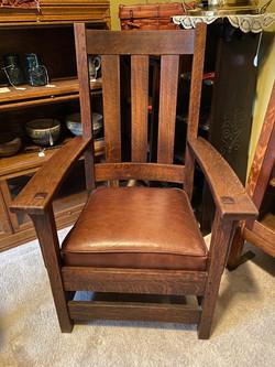 SOLD Limbert Tall Back Arm Chair