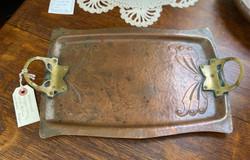 Copper Tray Brass Handles