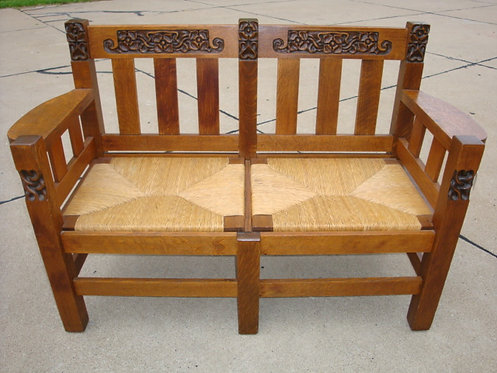 Phoenix Furniture Company Carved Settee