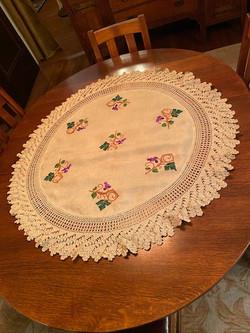 Grape Motif Round Textile