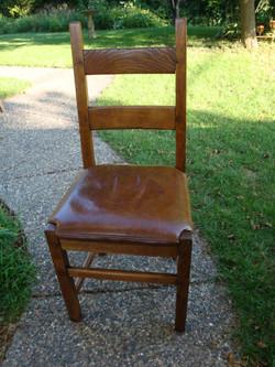 Oak Ladderback Side Chair
