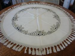 SOLD Round Textile