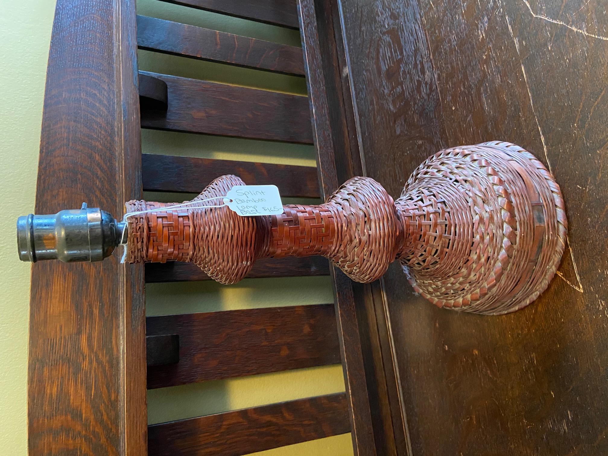 Splint Bamboo Lamp Base