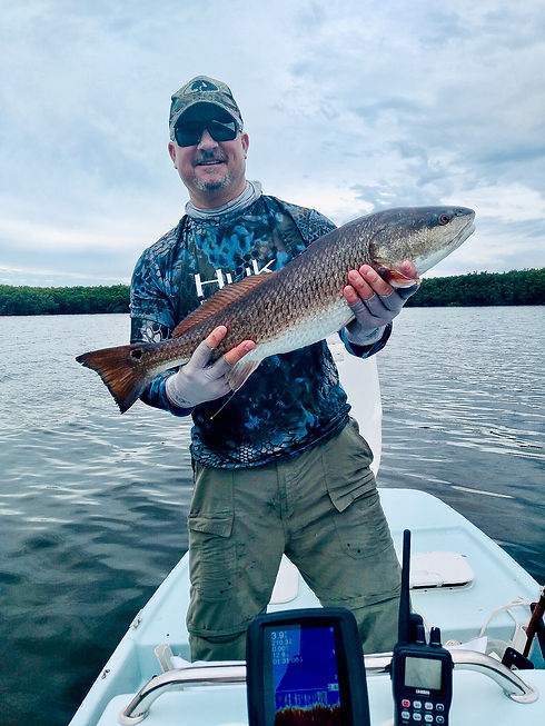 Redfish Citrus County Fishing Guide