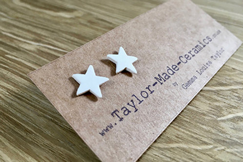 Ceramic Star Earrings