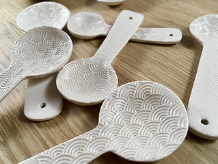 Beautiful textured patterned spoons.