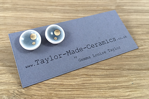 Ceramic earrings made in Lancashire