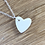 Thumbnail: Ceramic Heart Necklace and Earrings.