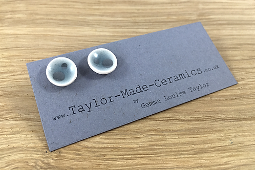Ceramic Grey and Silver Earrings.