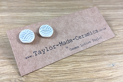 textured ceramic earrings