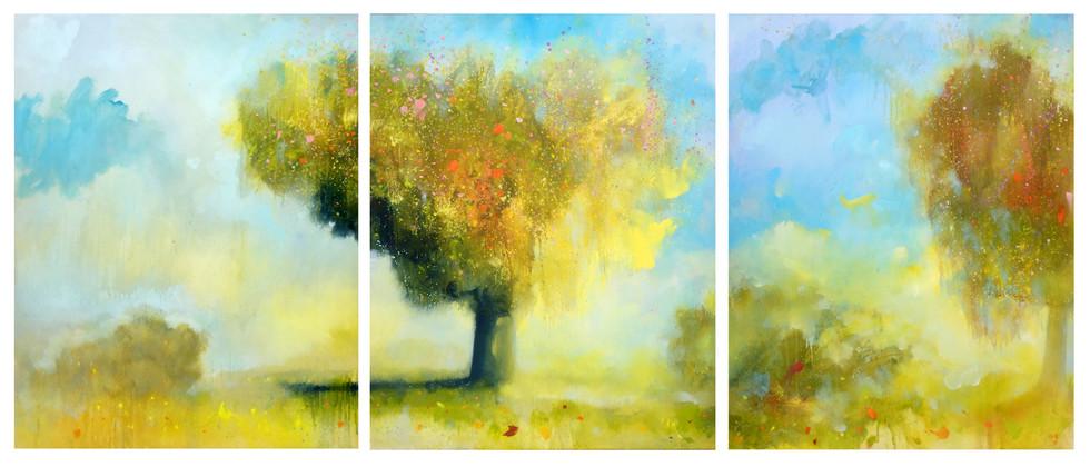 SOLD - Symphony of Light -Triptych