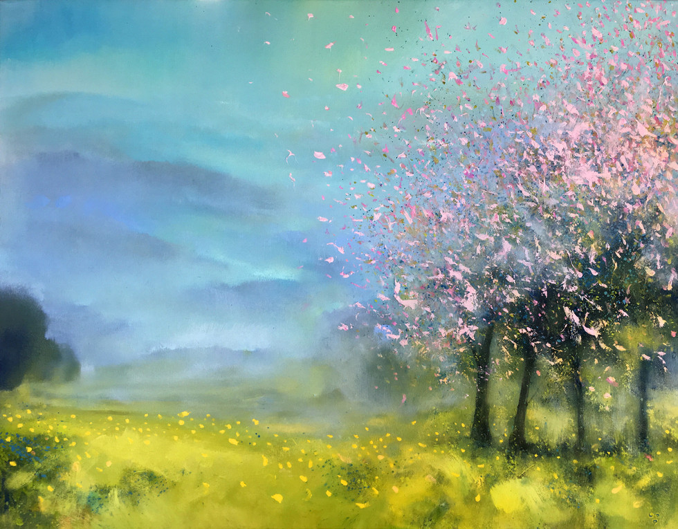 SOLD Montain Valley with Almond Blossom III