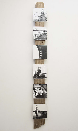 Foto serie op drijfhout, Insta#IJmuiden 1