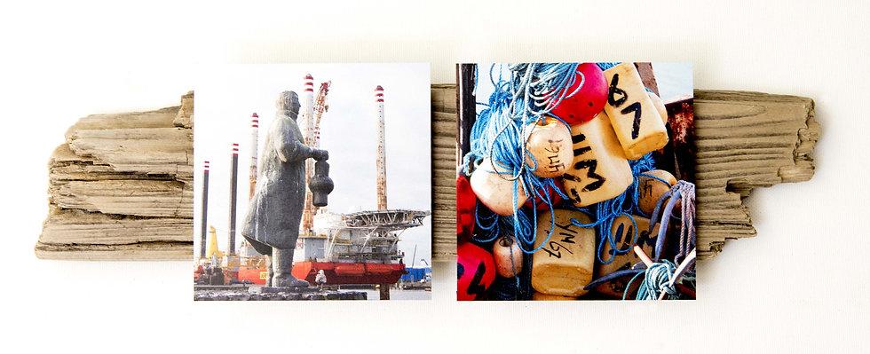 Foto serie op drijfhout, Insta#IJmuiden 3
