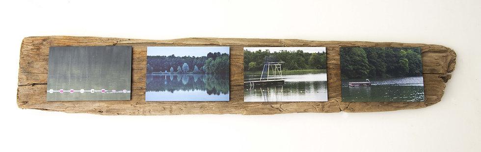 Foto serie op drijfhout, Lakelife