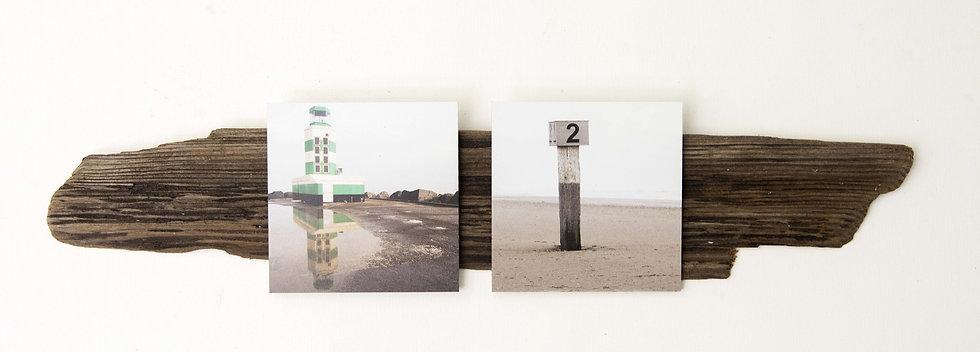 Foto serie op drijfhout, Insta#IJmuiden 2