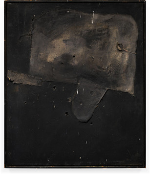Black Painting  Acrilyc paint and collage on canvas 35 x 30 inches