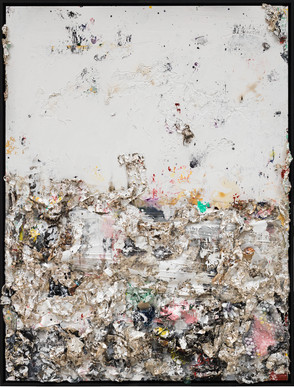 Rite of Spring II 2013 Handmade sterling silver, household paint, assortment of plastics on canvas 8 × 6 feet x 6 inches deep