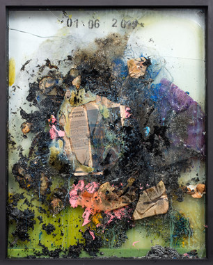 Work on fire No.18 2013-14 32 x 24 inches