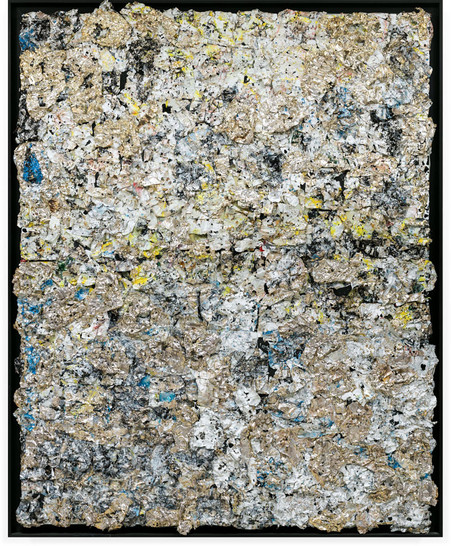 A Miracle 2012 Handmade sterling silver, household paint 10 x 8 feet