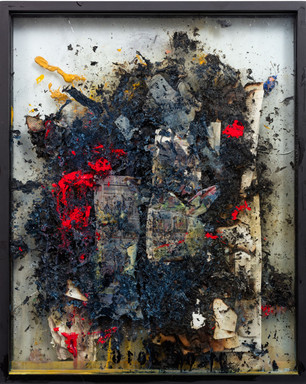 Work on fire No.20 2013-14 32 x 24 inches
