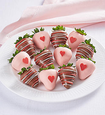 Sweet Hearts Dipped Strawberries