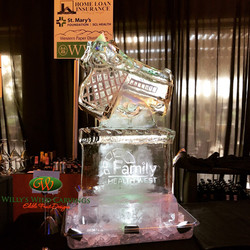 Family Health West Ice carving
