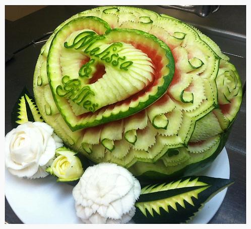 Watermelon Heart Design.