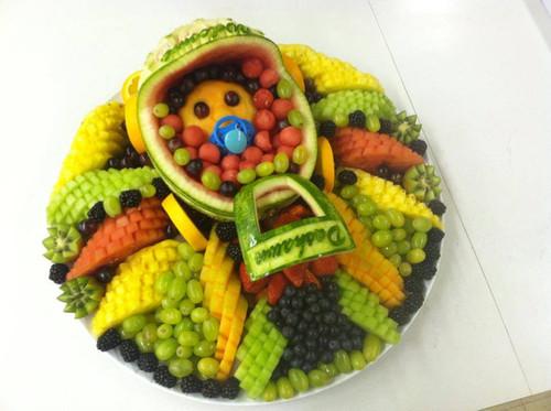 Baby shower fruit bouquets fruit arrangements custom carvings
