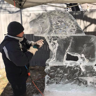 Ice Carving Demos