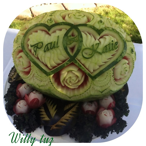 Watermelon Double Heart Design.
