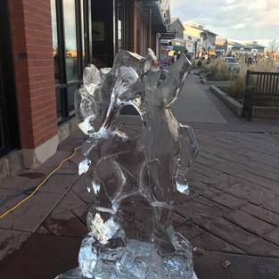 Deer Ice Carving