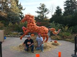 Horse Pumpkin Sculpture