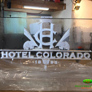 Hotel Colorado Logo Ice Carvings