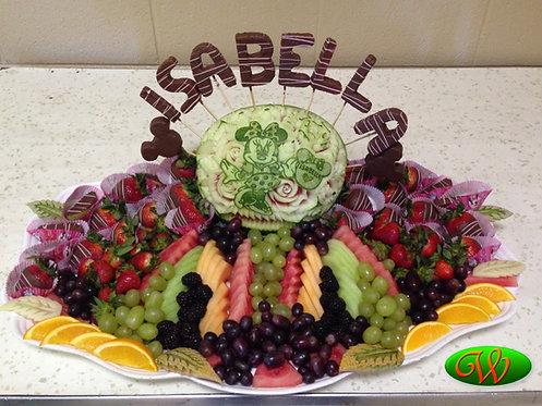 Chocolate Fruit Tray Celebration.