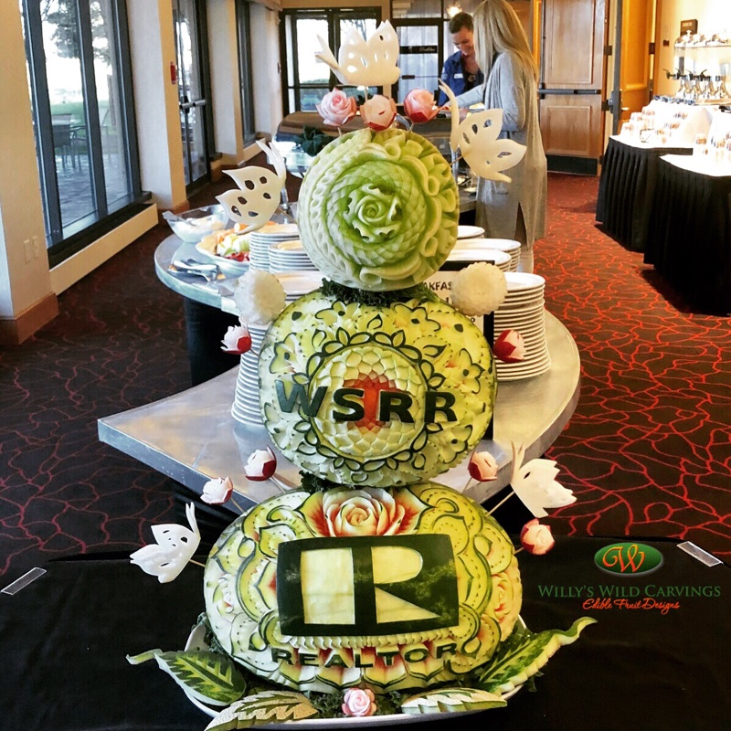 Realtors Custom Fruit Carvings