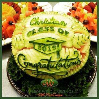 Graduation Watermelon Carving.