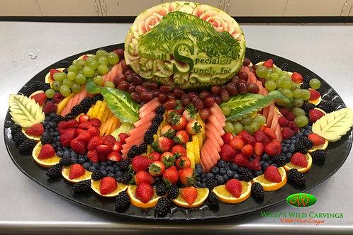 Custom Fruit Tray Celebration.