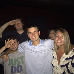 Roy (6'8''), Sam, myself, and Bri