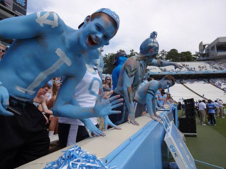 Go Heels! Go Body Paint!