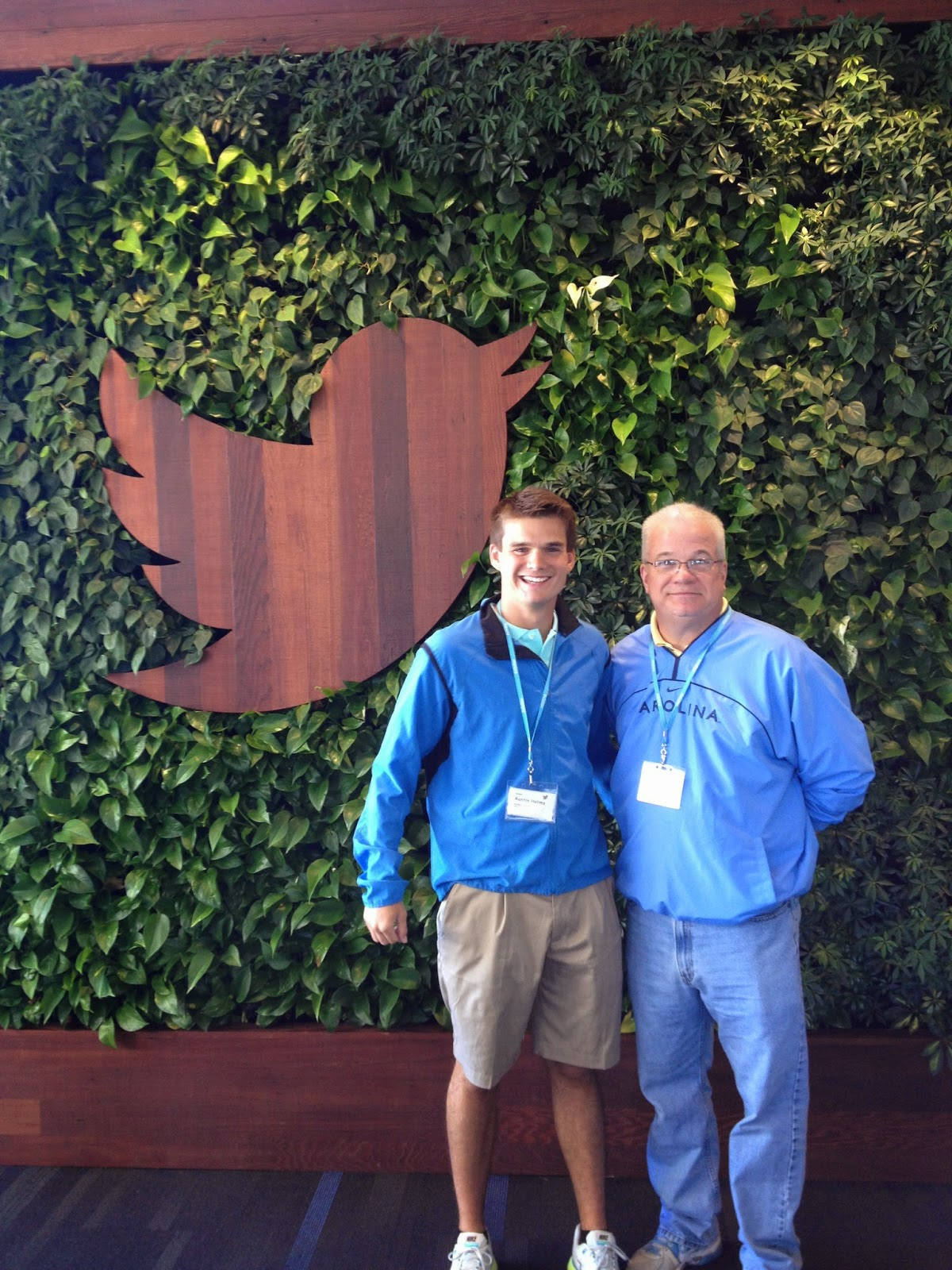 Dad and I visit Twitter!