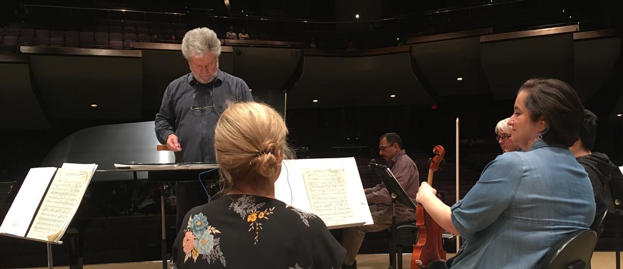 Rhapsody in Blue rehearsal