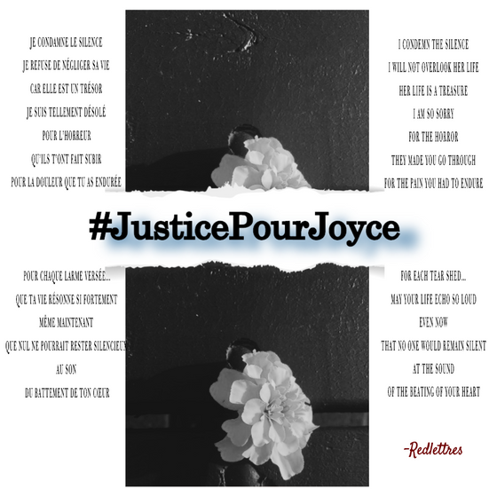 #JusticePourJoyce