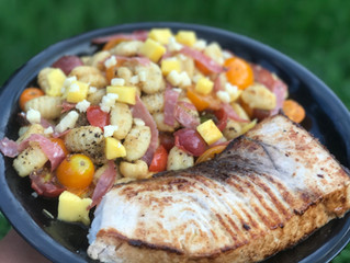 Summer Gnocchi with Brown Butter Swordfish