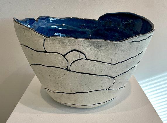 Brendan Roddy -  Large Landscape Vessel in Blue & Black