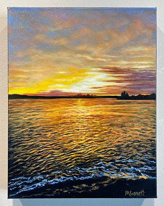 Marguerite Genest -  Sunset Over Middle Beach, Kennebunk
